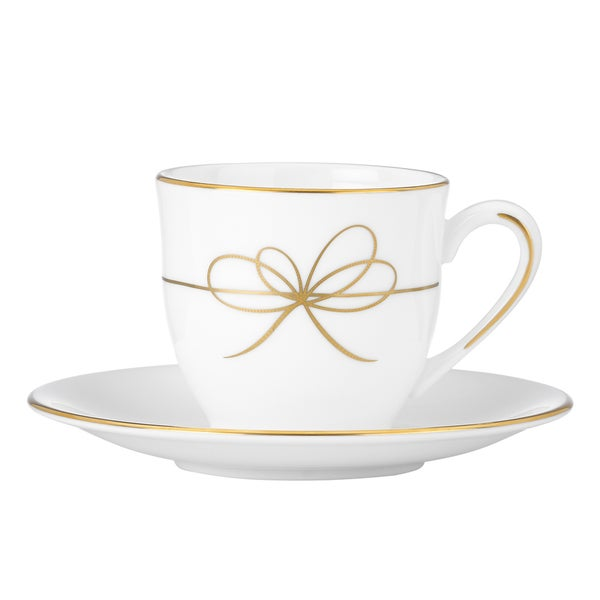 Gold Bow Espresso Cup and Saucer 12975223