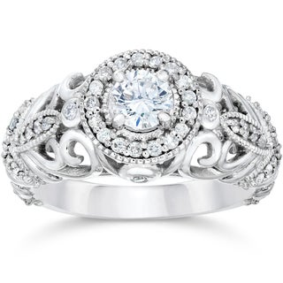 Bliss 14k White Gold 3/4ct TDW Vintage Diamond Ring (I-J, I1-I2)