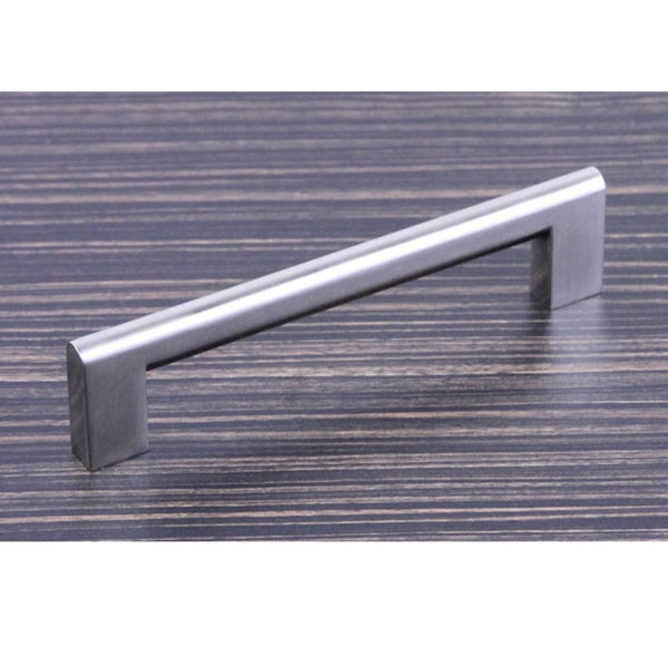 "Contemporary 6-15/16"" Key Shape Design Stainless Steel Finish Cabinet Bar Pull Handle (Case of 4)"