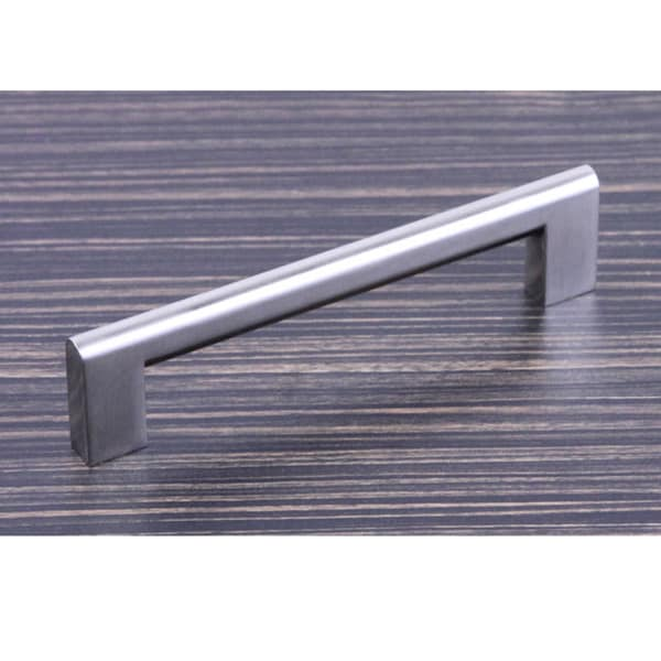 "Contemporary 6-15/16"" Key Shape Design Stainless Steel Finish Cabinet Bar Pull Handle (Case of 15)"