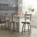 Steel Frame/ Maple Counter Stool