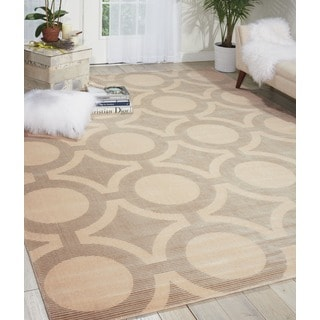 Nourison Luminance Cream Grey Rug (7'6 x 10'6)