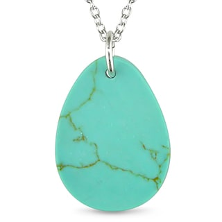 M by Miadora Sterling Silver Turquoise Necklace