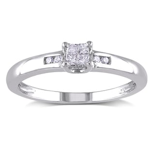 Haylee Jewels Sterling Silver 1/8ct TDW Diamond Composite Ring (H-I, I2-I3)