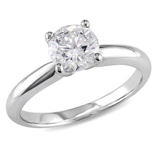 Miadora 14k White Gold 1ct TDW Diamond Solitaire Ring (J-K, I2-I3)