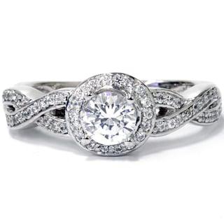 Bliss 14k White Gold 1ct TDW Diamond Vintage Engagement Ring (H-I, I1-I2)
