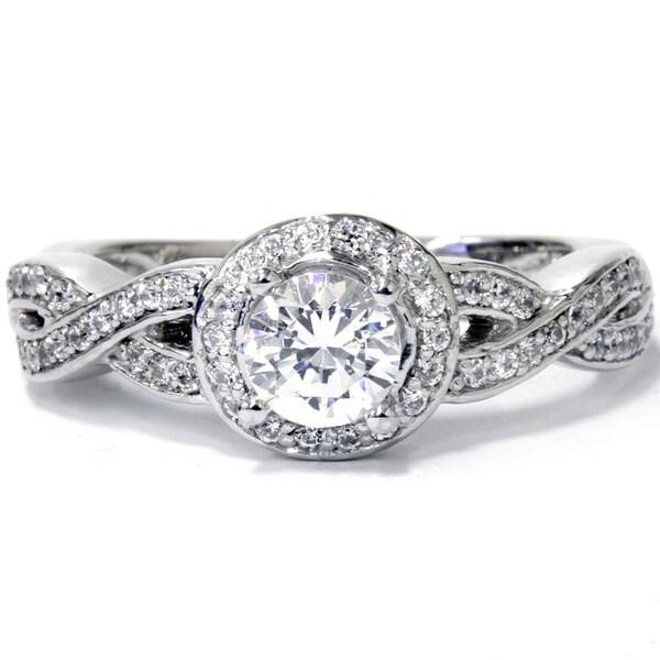 Bliss 14k White Gold 1ct TDW Diamond Vintage Engagement Ring H I I1 I2 O