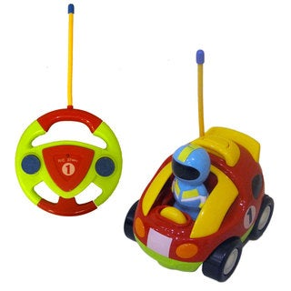 DimpleChild CartoonCar Music and Lights Remote Control Racing Car