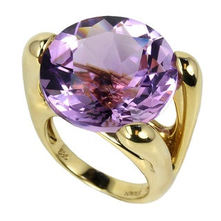 Sonia Bitton 14k Yellow Gold 26 4/5ct TGW Amethyst Ring