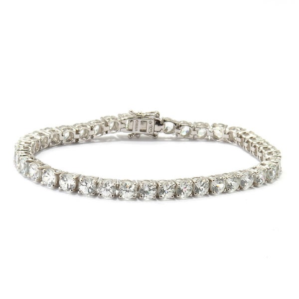Sterling Silver White Cubic Zirconia Tennis Bracelet