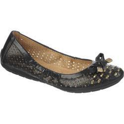 Women's Naturalizer Ulysses Black/Gold Smooth Maven Polyurethane