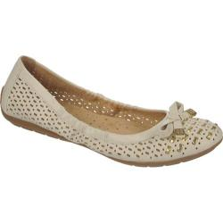Women's Naturalizer Ulysses Pale Ivory/Gold Smooth Maven Polyurethane