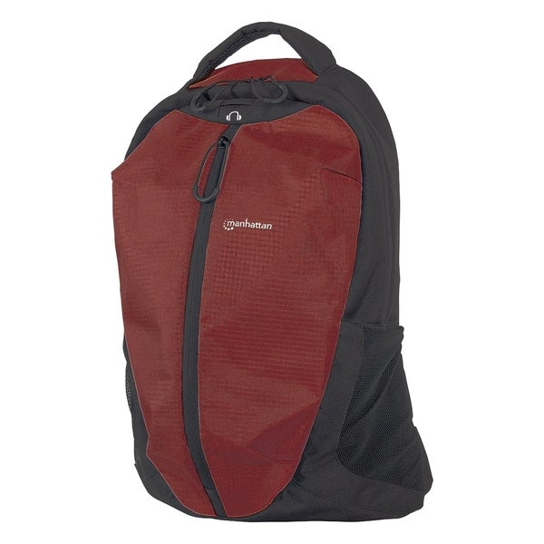 "Manhattan Airpack 15.6"" Laptop Backpack, Red/Black"