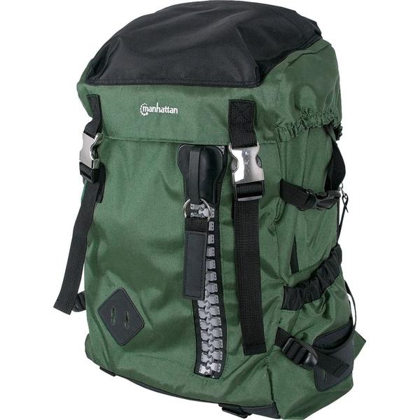 """Manhattan Zippack 15.6"""" Laptop Backpack, Green/Black"""