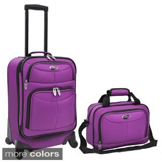 U.S. Traveler 2-piece Expandable Carry On Spinner Luggage Set