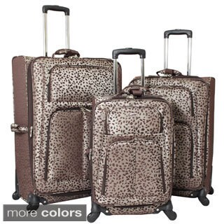 Chelsea Designer Print 3-piece Lightweight Expandable Spinner Upright Luggage Set