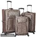 Chelsea Designer Print 3-piece Lightweight Expandable Spinner Upright Luggage Set