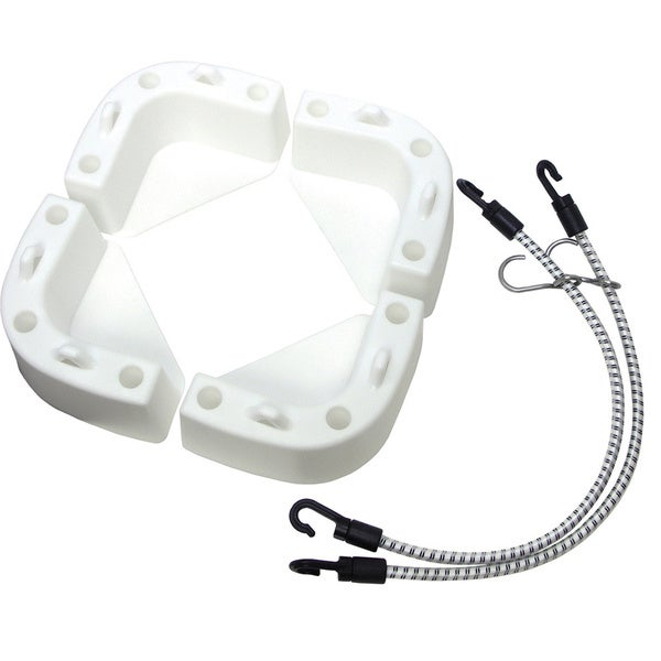 Shoreline Marine Cooler Chocks with Straps