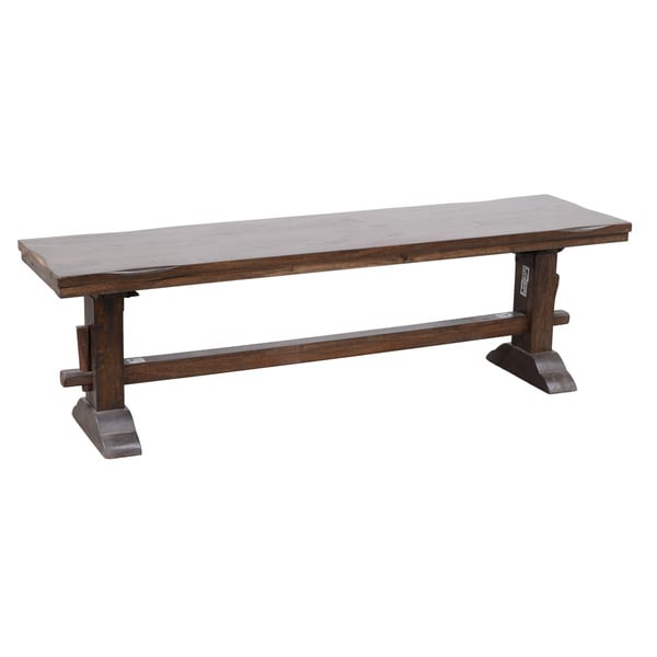 Rustic Wood Bench : Armada Mango Wood Rustic Trestle Bench - Overstock Shopping - Great ...