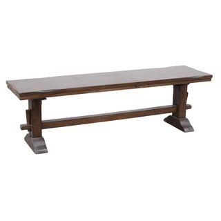 Armada Mango Wood Rustic Trestle Bench