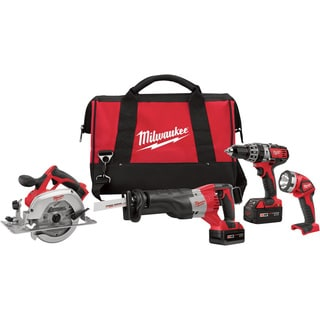 Milwaukee 2694-24 M18 Cordless Lithium-Ion 4-Tool Combo Kit
