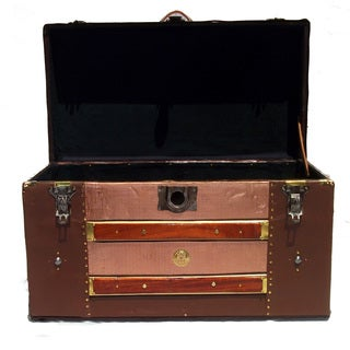 'Copperfield' 1890's Antique Tin and Steel Covered Trunk