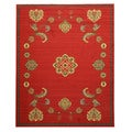 EORC Red Arabella Traditional Floral Rug (7'10 x 9'10)