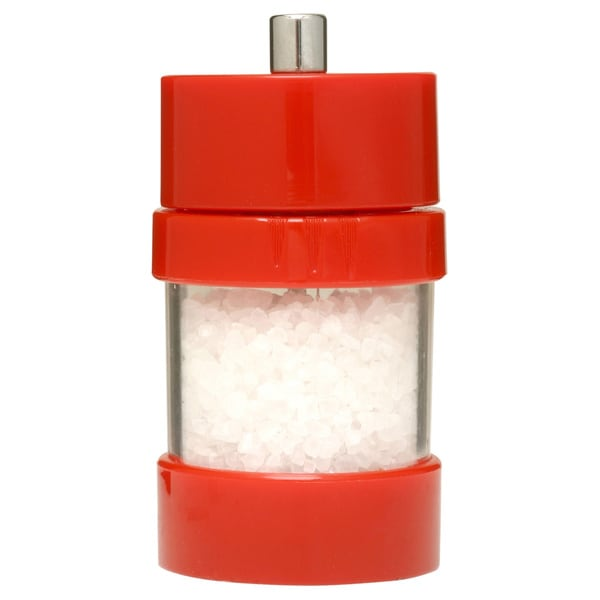 Red Acrylic Sea Salt Mill