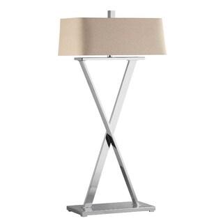 Max Polished Nickel Modern X-base Floor Lamp