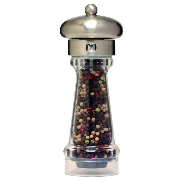 Brushed Stainless Steel Top Acrylic Pepper Mill