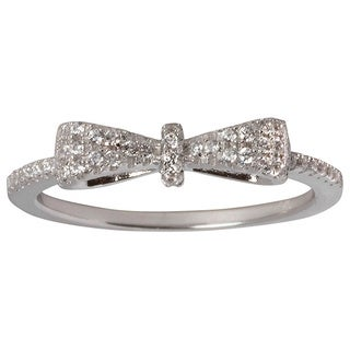 NEXTE Jewelry Sterling Silver 1 1/4ct TGW Cubic Zirconia Tied Bow Ring