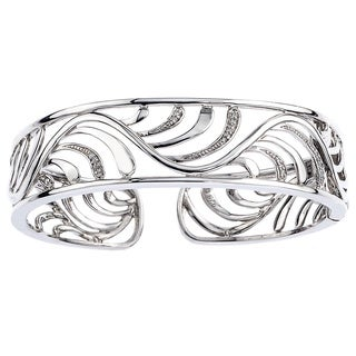 Sterling Silver 1/8ct TDW Diamond Cuff Bracelet (H-I, I2-I3)