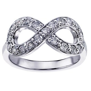 18k/14k White Gold 3/4ct TDW Diamond Infinity Ring (F-G, SI1-SI2)