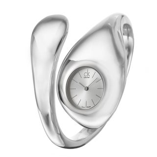 Calvin Klein Women's K5424120 'Hypnotic' Stainless Steel Bangle Swiss Quartz Watch