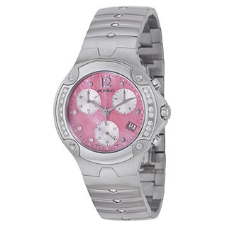 Movado Women's 0606837 'Sports Edition' Stainless Steel Pink Chronograph Watch