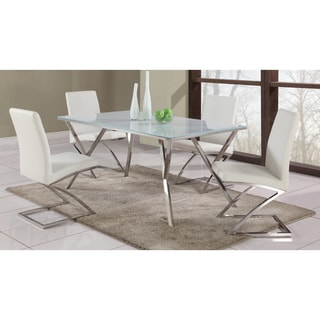 White Starphire Glass Dining Table