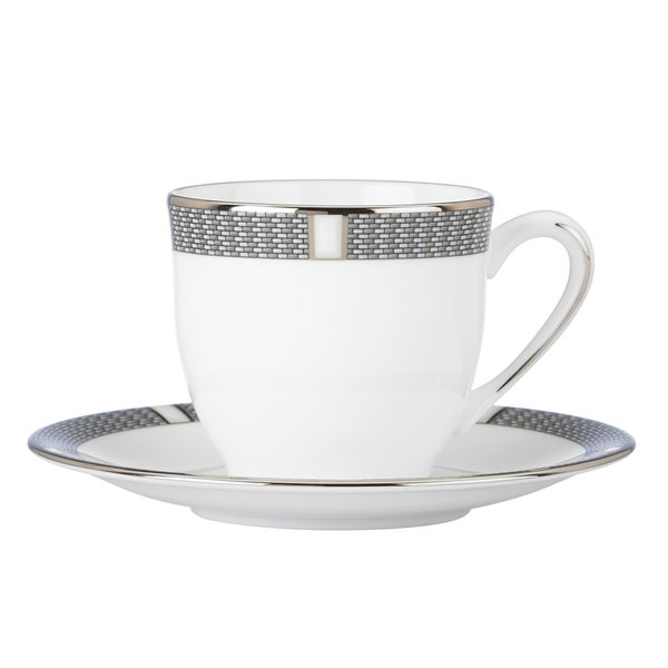 Silver Sophisticate Espresso Cup Saucer 12979530