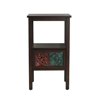 Elements Emblem Tile-drawer 30-inch Table