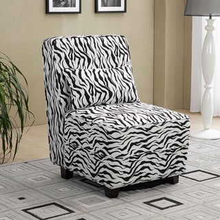 Fennix Modern Animal Print Armless Slipper Chair