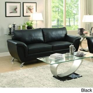 TRIBECCA HOME Olivia Modern Sleek Bonded Leather Sofa