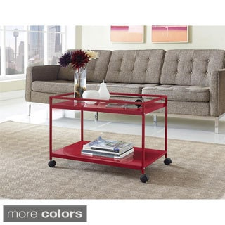 Marshall 2-shelf Rolling Coffee Table Cart