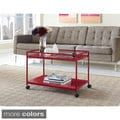 Marshall 2-shelf Rolling Coffee Table Cart