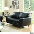 TRIBECCA HOME Olivia Modern Sleek Bonded Leather Loveseat