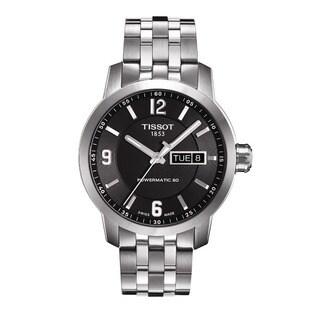 Tissot Men's 'Powermatic 80' Black Dial Stainless Steel Watch