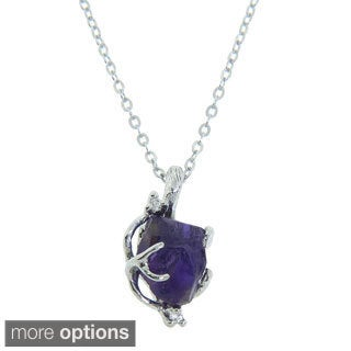 Eternally Haute Gems in the Rough Raw Gemstone Pendant Necklace