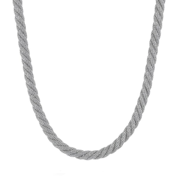 Stainless Steel Twisted Mesh Rope Necklace