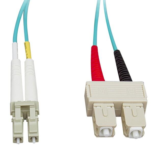 Offex 33 ft LC / SC 50/125 10-Gigabit Multimode Duplex Fiber Optic Cable