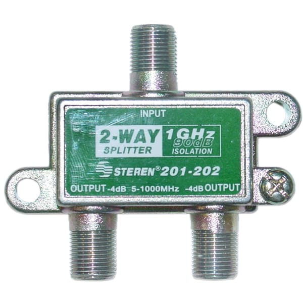 Offex F-Pin (Coaxial) 2-way 1GHz 90dB Splitter