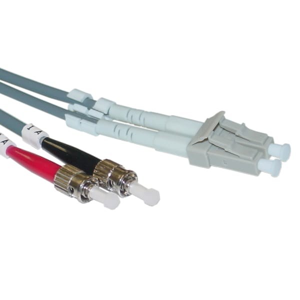 Offex 33 ft LC / ST 50/125 Multimode Duplex Fiber Optic Cable