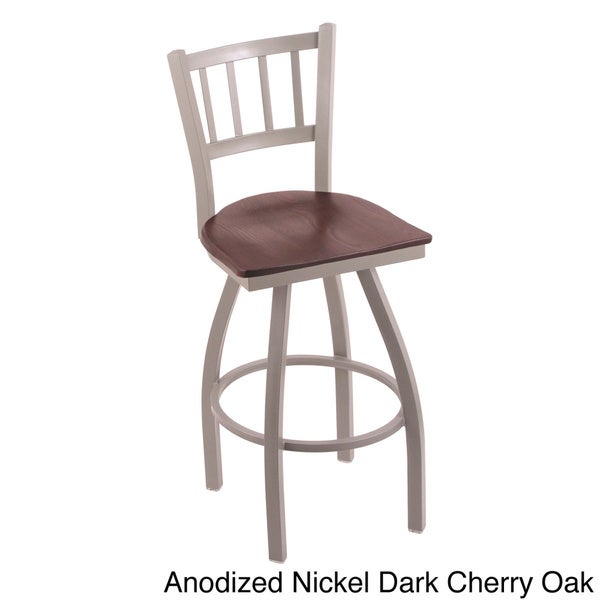 Share Email : Anodized Nickel Finish Dark Cherry Oak Seat Steel Frame and Oak Bar Stool 23e23075 6520 4b5c 9694 0d8978e7327f600 from www.overstock.com size 600 x 600 jpeg 33kB